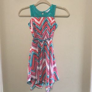 Girls Chevron dress